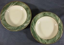 Mikasa TRAVERTINE GREEN L2112 Lot of 2 Soup Cereal Bowls Fine China Bard... - $17.95