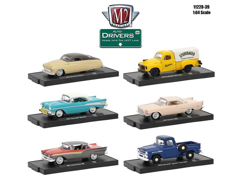 Drivers 6 Cars Set Release 39 In Blister Pack 1:64 Diecast Model Cars for sale  USA