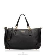 Coach F30565 Ally Black Leather Bag - $114.99