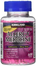 Kirkland Allergy Medicine 600 Tablets Antihistamine Diphenhydramine HCI ... - $8.53+