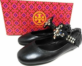 Tory Burch Minnie Reva Ballet Flats Embellished Convertible Strap 5.5 Ba... - $129.99