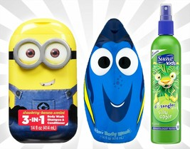 Minions 3-in-1 Shampoo Conditioner Finding Dory Body Wash Suave Apple De... - $19.74