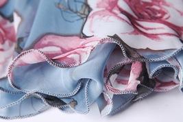Summer MAXI Floral SKIRT Women White Flower Maxi Chiffon Skirt Long Beach Skirt image 13