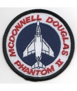 USAF AIR FORCE F-4 PHANTOM II BULLET MCDONNELL DOUGLAS ROUND EMBROIDERED... - $23.74