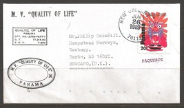 1989 Paquebot Cover Pamama stamp used in New Orleans, Louisiana (Jun 26) - $5.00