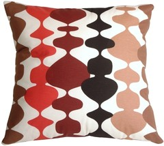 Pillow Decor - Lava Lamp Red 20x20 Throw Pillow - £30.60 GBP