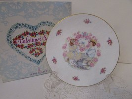 Royal Doulton Bone China Collector Plate Valentine's Day 1977 England Boxed - $14.80