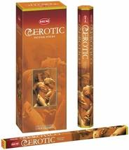 Hem EROTIC Incense Sticks Beautiful Handmade Natural Fragrance 6 x 20= 120 Stick - $16.23