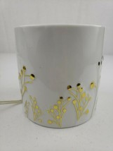 Yankee Candle Greenery Collection White & Gold Candle Holder & Warmer Retired - $36.75