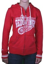 Mitchell & Ness Womens Distressed Vintage Detroit Hockey Red Wings Hoodie Large image 2