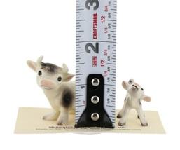 Hagen Renaker Farm Cow Black and White Mama & Baby Calf Ceramic Figurine Set image 2