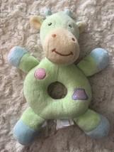 Koala Baby Green Blue Yellow Fleece Giraffe Baby Rattle Toy - $3.50