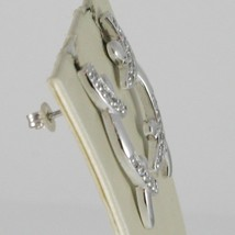 Silver Earrings 925 Tried and Tested to Temple Hard with Zircon Cubic White image 2
