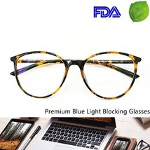 Blue Light Blocking Computer Glasses - Round Light Weight Comfortable Fi... - $39.51