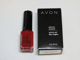 Avon nail Art Enamel Reviving Red 6 ml 0.20 fl oz nail polish mani pedi - $19.85