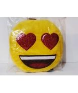 New, Official Emoji Big Smile Heart Glitter Eyes Plush Backpack - $14.88