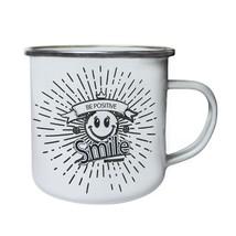 New Enjoy Your Day Positive Retro,Tin, Enamel 10oz Mug h906e - $13.13