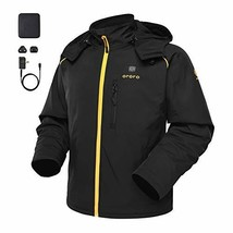 ORORO Men's Soft Shell Heated Jacket with Detachable Hood and Battery Pa... - $242.01