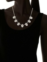 """USA Made 18"""" Yochi Gold Plated Cubic Zirconia Crystal Dazzle Petal Necklace NWT image 2"""