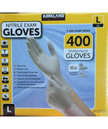 2 X 200 Kirkland Signature Disposable Nitrile Exam Gloves - 400 Count Large - $65.00