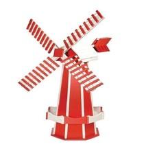 "41"" POLY WINDMILL - Red & White Working Dutch Garden Weathervane Amish USA - $413.41 CAD"