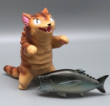 Max Toy Golden Brown Striped Negora w/ Fish image 1