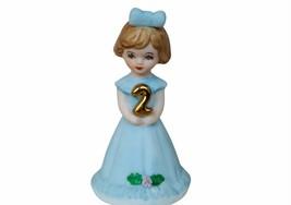 Enesco Growing Up Girl porcelain birthday gift 2 years old two figurine ... - $17.37