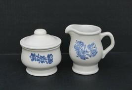 PFALTZGRAFF USA Yorktowne Blue Covered Sugar Bowl and Creamer Stoneware - $24.99