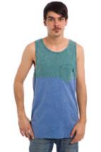 Vans Off The Wall Starstruck Tank Top Men's L Lg Green Blue Pocket Tee Singlet - $13.98