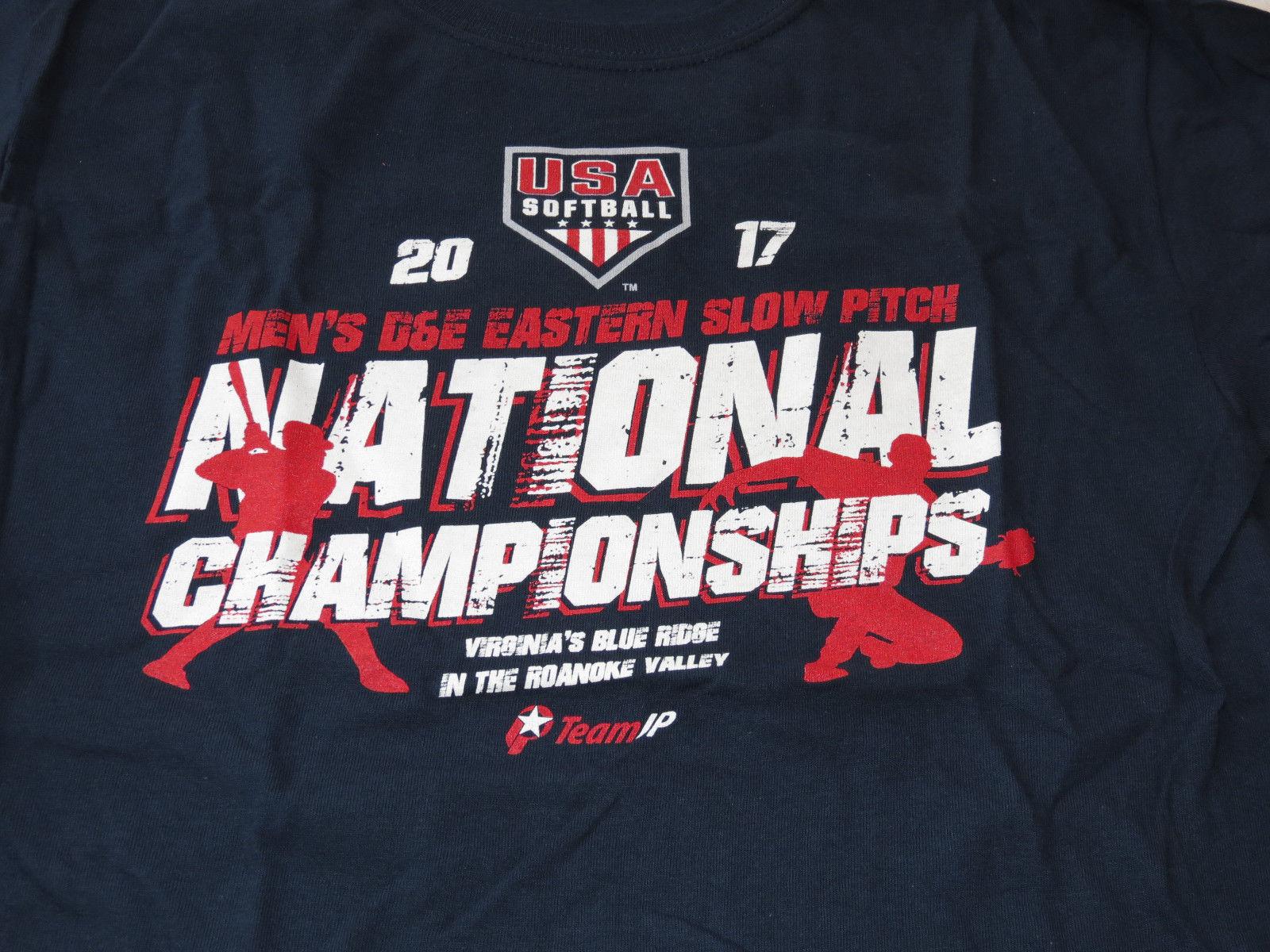2017 National Championships USA softball Gildan Heavy Cotton S/S T shirt L Youth