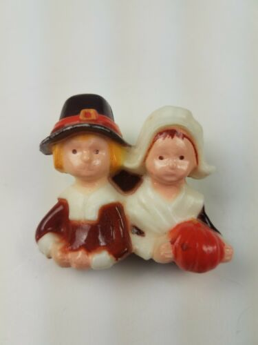 Primary image for Hallmark Holiday Thanksgiving Pin Pilgrim Couple Woman Man