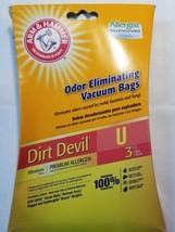 """Three (3) Dirt Devil Vacuum Bags ~ Style """"U"""" ~ Premium Allergen - $15.84"""