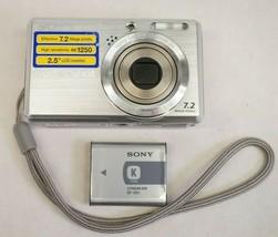 Sony Cyber-shot DSC-S750 7.2 MP Digital Camera - Silver - $17.99