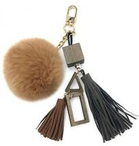 SPRINGWIND Fur Pom Keychain, Handmade DIY Rabbit Fur Pompom Keyring Wit... - $31.90