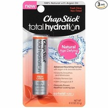 ChapStick Total Hydration Fresh Citrus Age Defying 100% Natural Argan Oi... - $5.89