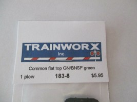 Trainworx Stock #183-8 Snowplow  Common Flat Top GN/BNSF Green N-Scale- image 2