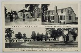 Savannah GA Mirror Camp Service Station Dining Room Cottages Postcard Q18 - $14.95