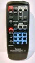 Canon WL-D74 Wireless Video Camera RTD830522000, WLD74A, ZR40 Remote Control - $9.00