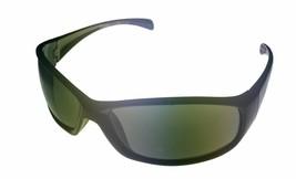 Kenneth Cole Reaction Sunglass Mens Black Rectangle Wrap, Green Lens, KC1058 BR - $17.99