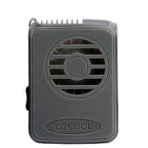 O2 Cool Deluxe Necklace Fan Personal Neck Fan Blows Air Upward (GREY)