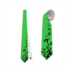 necktie riddler question mark halloween superhero tie - $23.00