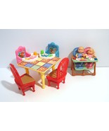 Fisher Price Loving Family Twin Babies Kitchen Table W Booster Chairs Hi... - $49.95