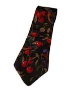 Bugatti 100% Italian Silk Vintage Birds In Cherry Tree Classic Men's Nec... - $14.00