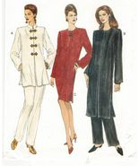 Misses Asian Style Side Slit 3 Lgths Dress Tunic Tapered Pants Sew Pattern 14-18 - $12.99