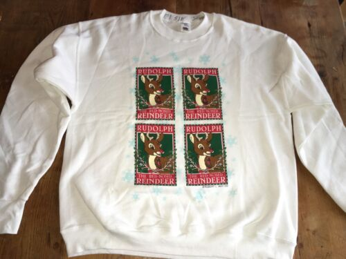 Rudolph the Red-nosed Reindeer  Red Christmas Sweat Vintage 50/50 Vintage