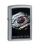 ZIPPO American Hero Firemen Fireman Badge Lighter 852587 Exclusive Free ... - $26.95