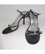 "Bebe Black Bling 4"" High Heels Sandals Sz 8.5 M Strappy Open Toe - $22.24"