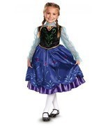 NEW Disney Frozen Anna Traveling Deluxe Dress Halloween Costume by Disgu... - £15.13 GBP