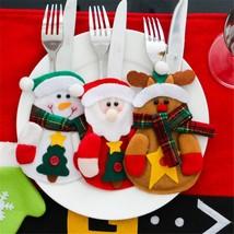 Cutlery Pocket Bag Christmas Table Decoration 3pcs Santa Snowman Reindee... - €7,63 EUR