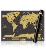 AlexBasic Scratch Off World Map Poster Travel Tracker Map Scrape Off Map... - $12.25